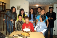 Birthday Dinners with Gees, Nov. 2010